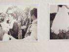 Ausschnitt aus einem Fotoalbum mit feierndem Hochzeitspaar zur Bebilderung der Rubrik Paargeschichten auf dem Blog der Berliner Paartherapeutin Julia Bellabarba