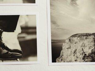 Ausschnitt aus einem Fotoalbum mit Hochzeitsschuh zur Bebilderung der Rubrik Paargeschichten auf dem Blog der Berliner Paartherapeutin Julia Bellabarba