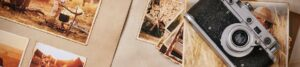 Foto mit alten Aufnahmen und Kamera zur Bebilderung der Rubrik Paargeschichten auf dem Blog der Berliner Paartherapeutin Julia Bellabarba